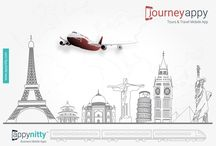 JourneyAppy - Tours & Travels Mobile App / A Fast-Response Mobile App for all your Fast-Moving Travel Clients.
