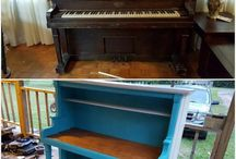 recycled piano ideas