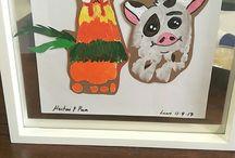 Moana kid's art