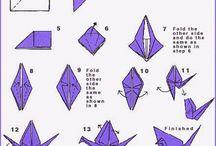 Origami, papír dekor