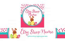 Easter Designs For Etsy Sellers / Discover fun Easter themed Etsy banners, promotional postcards, Facebook banners and more! These are great designs for Etsy sellers to use to promote their holiday items, sales and promotions.  All Easter themed designs are available on RhondaJaiDesigns.com