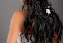 wedding hairstyles with braids in Italy / our works: different types of bridal hairstyles with braids elements