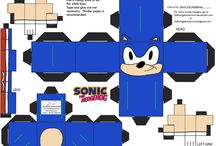 game character paper craft cube figures / printable D.I.Y  craft paper cube figures