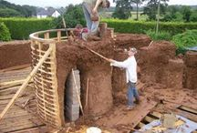Natural Building Techniques. / Building with mud, straw, stone and wood. All while avoiding concrete.