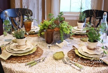 Tablescapes and Mantle-scapes! / Pretty ways to decorate my tables and mantle. / by Kim Kreger Bryant
