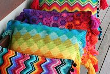 Crochet cushions and blankets and...
