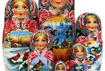 7 Piece Russian Babushka Nesting Dolls / A short list of our 7 piece nesting dolls. Some fine examples of hand painted babushka dolls.