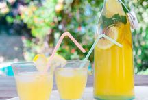 Ice tea, lemonade, cocktails and other drinks