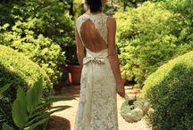 Wedding dress, hair and makeup