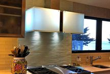 Backsplashes / Looking for a backsplash accent to coordinate with your cabinets and counters in your kitchen or bathroom? Cast glass backsplashes can be customized and color matched to your room design and taste.