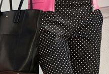 schwarz-weiß getupfte Hose kombinieren
