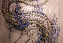 Татуировки в виде дракона