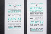 wedding invitation inspiration / Stylish, funny, and unusual wedding invitation ideas for the bride who appreciates great graphic design.