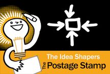 The Idea Shapers: The Postage Stamp / In her 2016 book The Idea Shapers, Brandy Agerbeck makes visual thinking attainable and enjoyable through a set of 24 Idea Shapers. The Postage Stamp is the second visual thinking concept in the fourth step, SCALE.