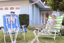 Front Yard:  Halloween