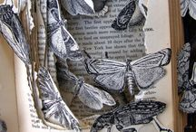 Book sculpture, altered books