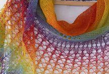 Knitting - scarfs, shawls, wraps etc.