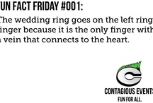 Fun Facts / Every Friday, Contagious Events posts a new fun fact on the blog. Visit www.contagiousevents.net/behindthescenes to view a behind the scenes look at what's going on with Boston's Gay Wedding Planner