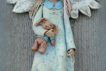 Anioły i figurki z masy solnej