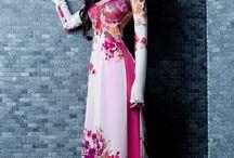Qi Pao/ Cheong Sam/ Ao Dai / Traditional Chinese and Vietnamese wedding dresses