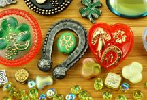 Saint Patrick's Day Jewelry: Czech Glass Beads, Buttons and Charms