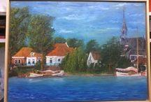 Schilderijen Henk / Spaarndam, IJdijk