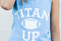 Tennessee Titans / Tennessee Titans game day apparel.  Women's gameday outfit.