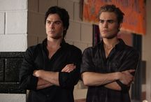SCREEN   Vampire Diaries & The Originals / Yes, more vampires.  Have you LOOKED at Ian Somerhalder (playing Damon Salvatore) and Paul Wesley (playing Stefan Salvatore)??? / by Kim Puffpaff