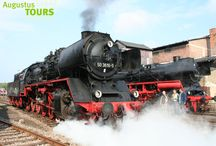 Dampflokreisen / Erleben Sie mit AugustusTours die Faszination Dampfeisenbahn während einer Dampflokreise für Gruppen, Vereine und Individualgäste. Reisen Sie mit uns zu bedeutenden Veranstaltungen, wie dem Dampfloktreffen in Dresden oder dem Heizhausfest in Chemnitz.