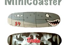 MiniCoaster / Tablas perfectas para practicar trucos de skate o para niños.
