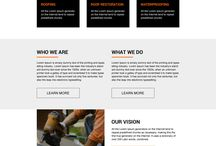 roofing landing page design