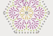 Crochet hexagon