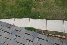 Pressure Washing / Pressure Washing a sidewalk, wood steps, and Patio