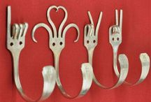 tenedores perchero