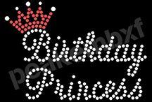 Princess Crown Rhinestone Transfers / Princess Crown Rhinestone Transfers