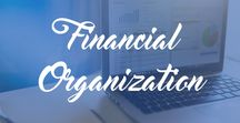 Financial Organization / Tips for keeping your money organized. Get your finances in order. Finance and budget printables. Financial planning