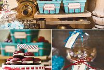 Airplane Baby Shower / Vintage Travel Baby Shower by I Heart to Party