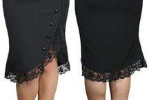 Dlouhé úzké sukně