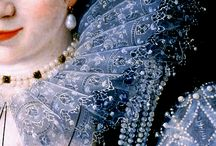 16th c pearls, lace, potraits