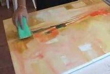 pictura cu burete