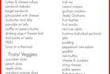 School lunches for kids / by Ashlee Telschow