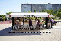Contenedor Porchetta / La reutilización de los contenedores sirve, entre otras cosas, para ofrecer servicios a la gente.