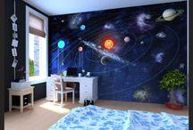 vesmir,hviezdy na stene