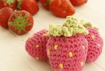 Hæklet frugt, mad og kager