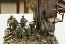 Soldaten im Kampf