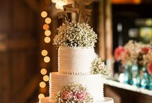 cake wedding rustic