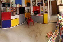 Mondrian-inspired Library