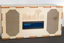 Project: WebRadio / Building a WebRadio using a laser cutted encasing, a raspberry pi, an LCD display, speakers, ... On the raspberry mpd (music player daemon) is installed.