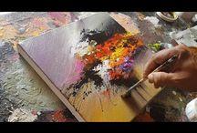 Abstrakti taide, akryyli
