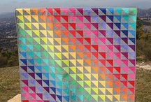 Rainbow Quilts / All the colours of the rainbow in a quilt. I love all colours, so incorporating them in a quilt is a superb idea.